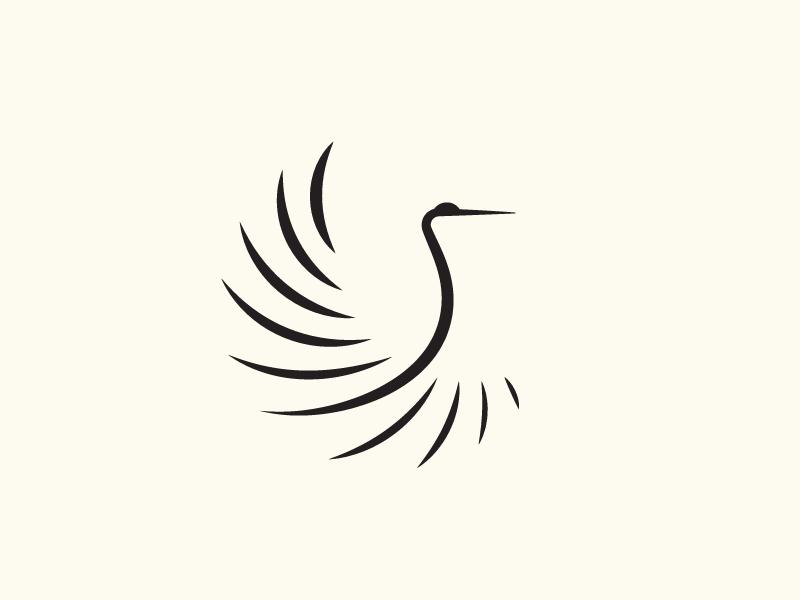 Crane Bird Logo Design Graphic Design Logo Heron Art