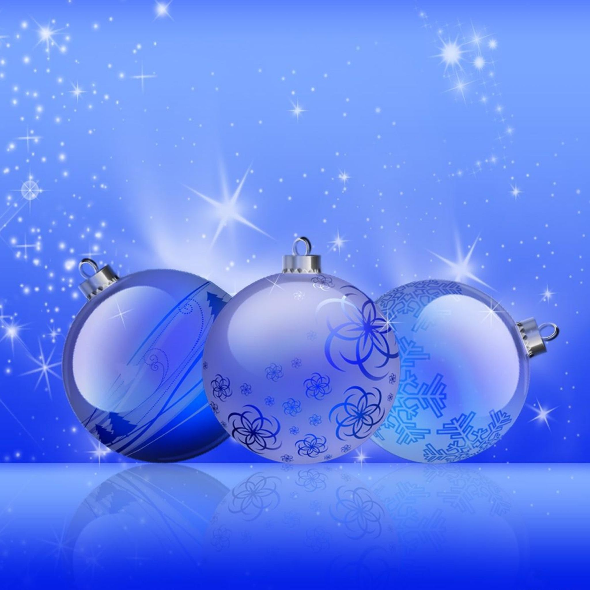 Download Wallpaper 2048x2048 Christmas Decorations Balloons Twinkling Holiday Blue Blue Christmas Ornaments Xmas Wallpaper Christmas Wallpaper Backgrounds