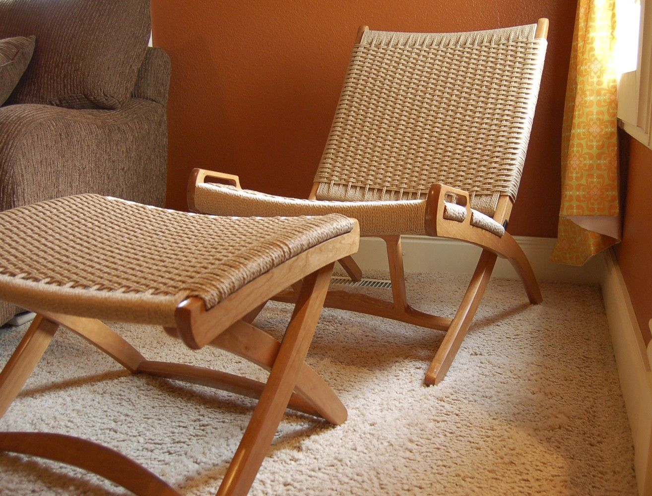 Roxy Folding Chair In Teak And Danish Cord   Hardtofind. | Organised |  Pinterest | Folding Chairs, Teak And Room
