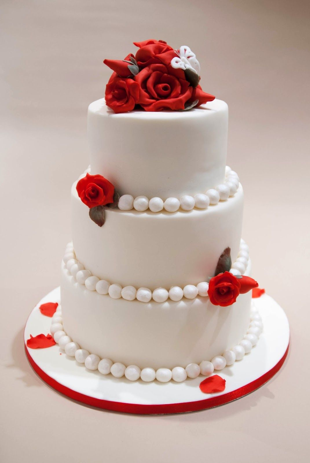 The Simple 3 Tier Wedding Cake Without Having To Spend A Lot Red Rose