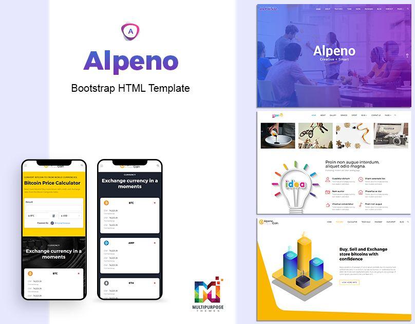 Alpeno One Page Parallax Creative agency website