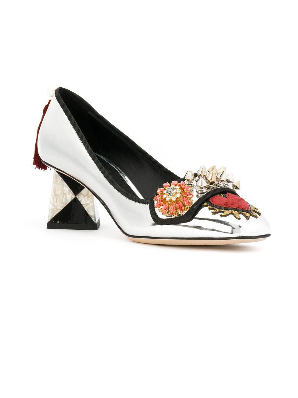 8eec8f1332e923 Dolce   Gabbana Jackie pumps Dolce   Gabbana, Sensible Shoes, Flower Shoes,  Funky