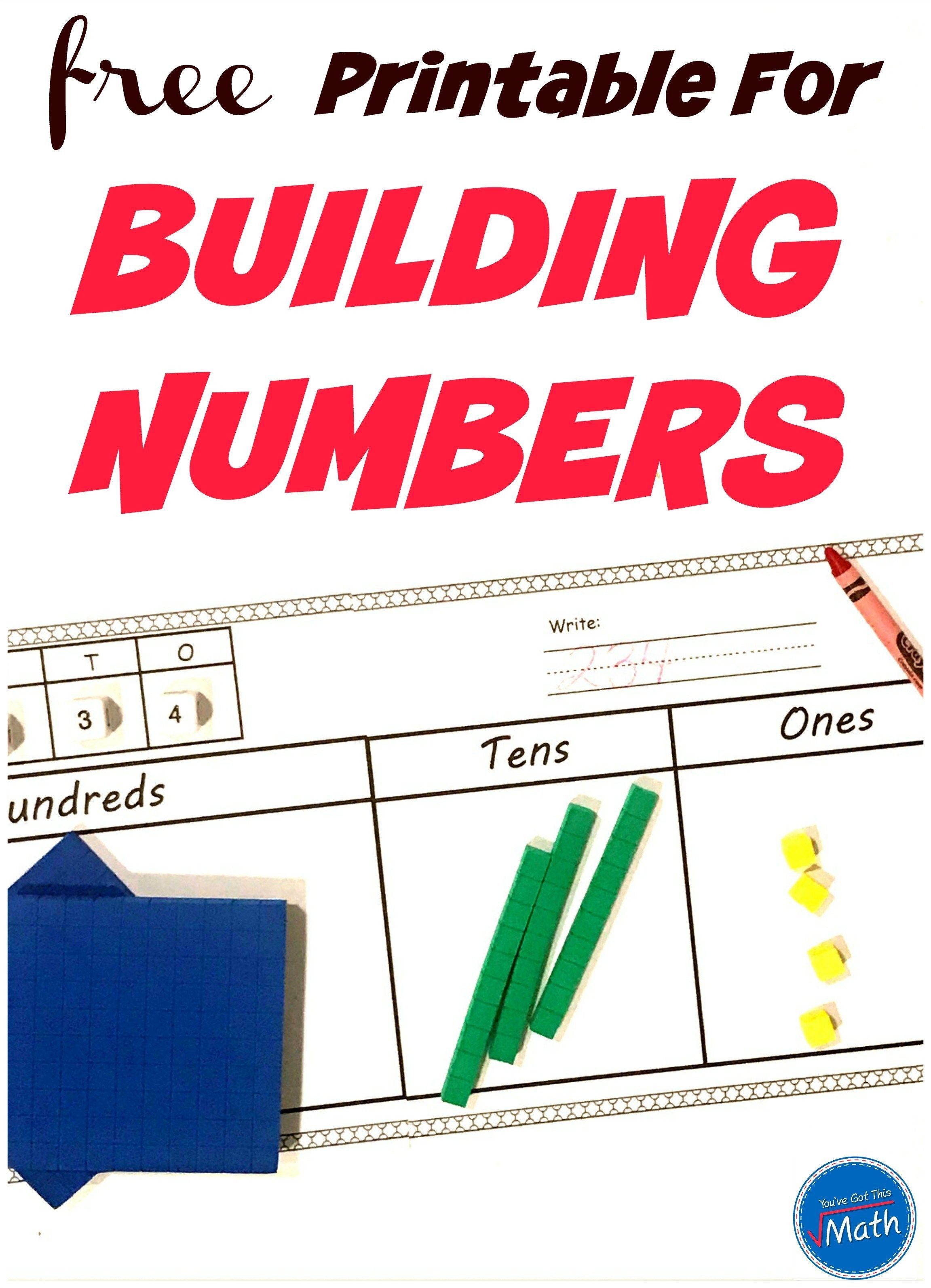 Free Base Ten Blocks Activity For Building Number Sense