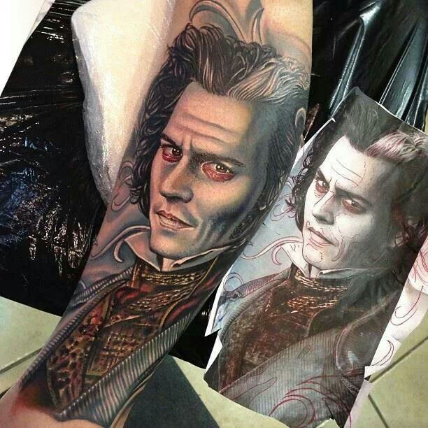 Sweeney todd tattoo all inked up pinterest sweeney for Sweeney todd tattoo
