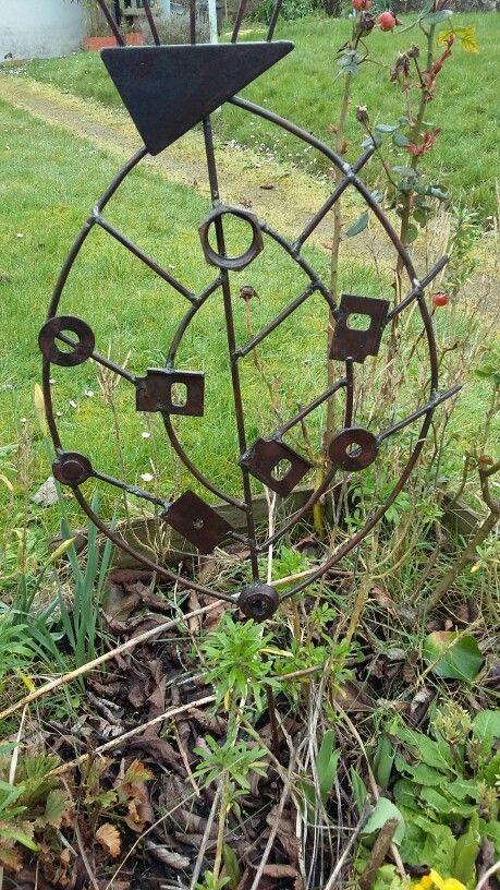 Déco jardin recyclage métal, sculpture métal, upcycling métal ...