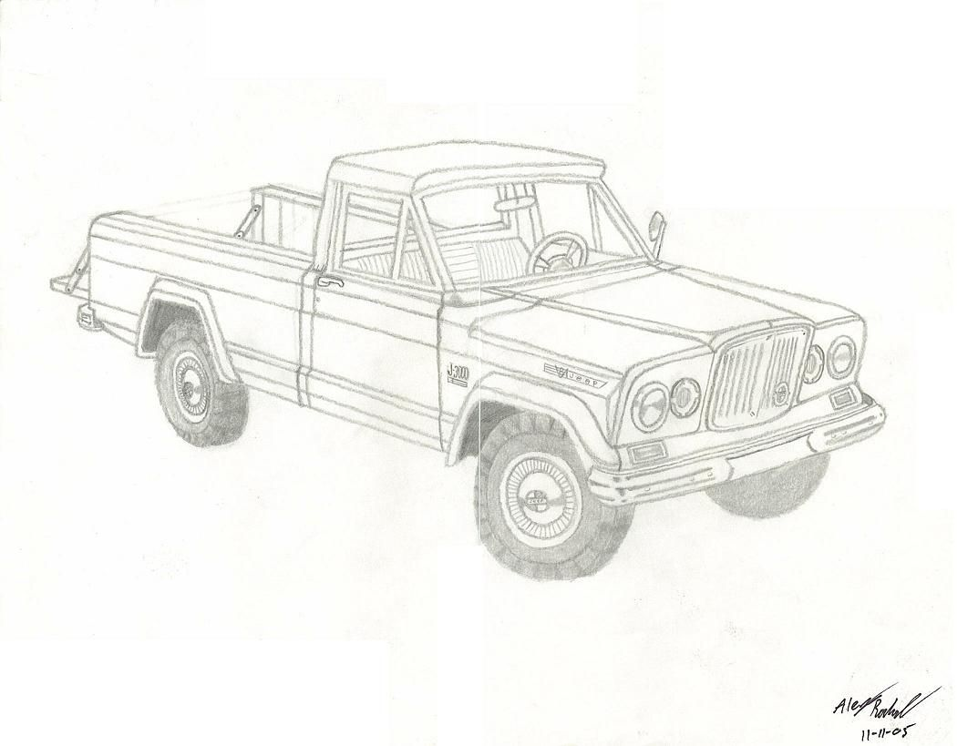 Gladiator truck for the Jeep coloring book Pinterest page. | lucho ...