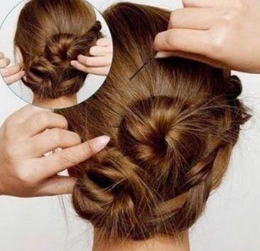 trenzas-peinado recogido DIY