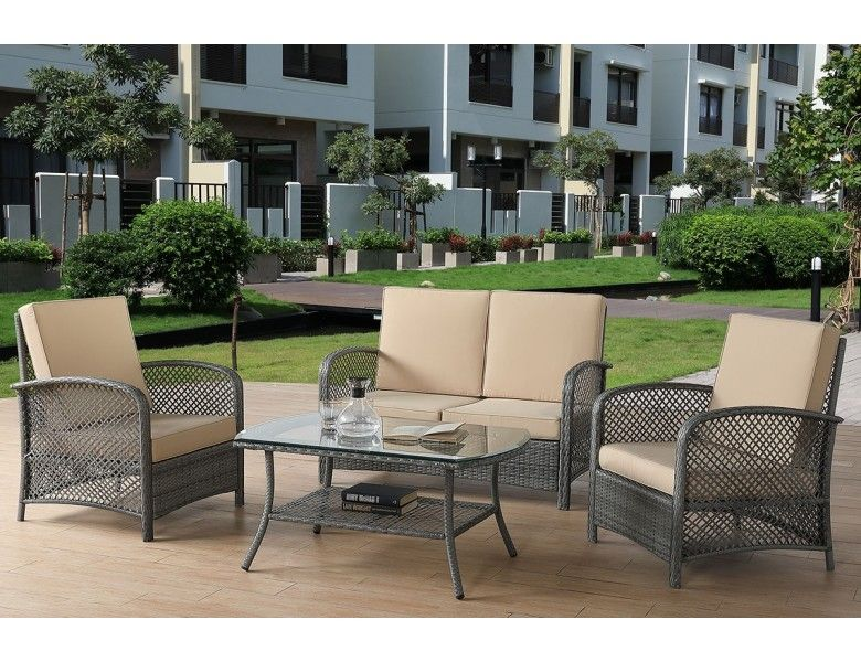 Baymont All Weather Wicker Sofa Set Outdoor Patio Decor Patio Furnishings Outdoor Furnishings