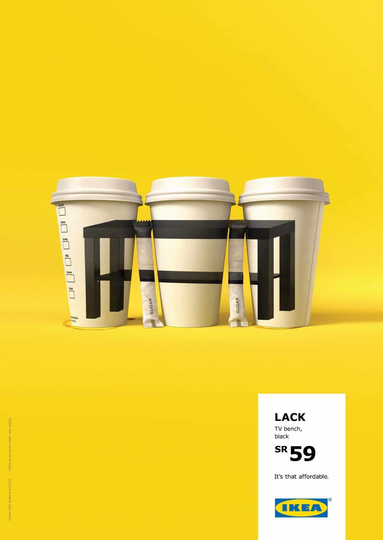 IKEA ad campaign table | Advertising | Ikea ad, Print ads ...