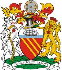 Sticker decal souvenir car coat of arms shield city flag london uk england
