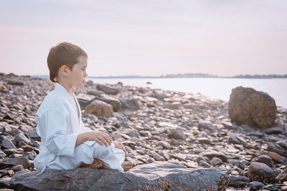 Ninja warrior training how to teach kids meditation