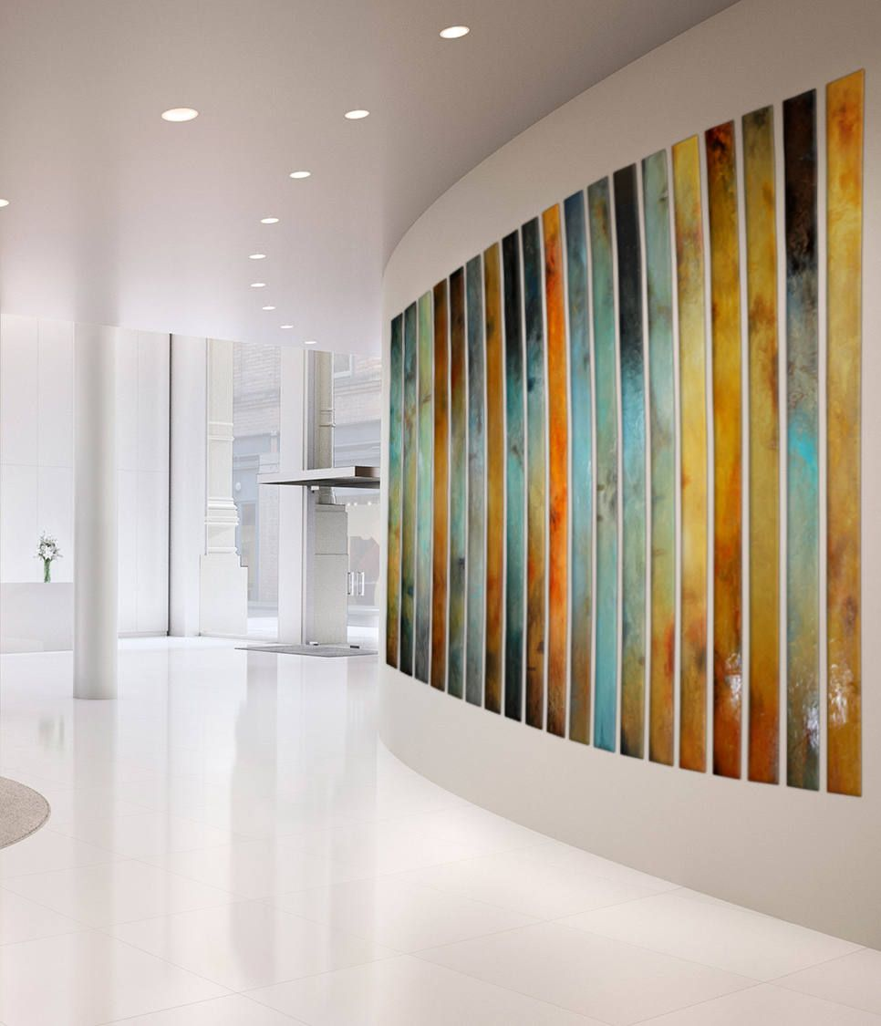 Large Painting Multiple Panels Foyer Art Curved Large Wall Art Huge Wall Art Installation For Designer Home Staging Office Lobby Decor Huge Wall Art Large Wall Art Curved Walls