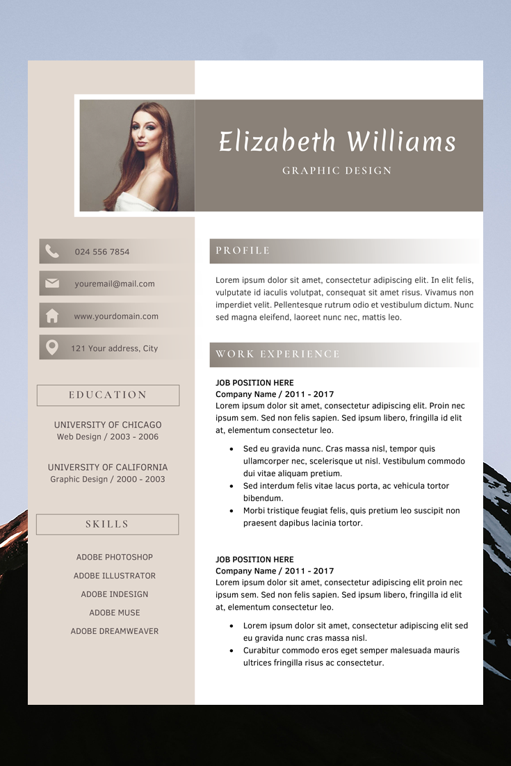 Resume With Photo Template Basic Resume Template Best Cv Design Resume Template Reference Resume Template Word Resume Design Template Resume Templates