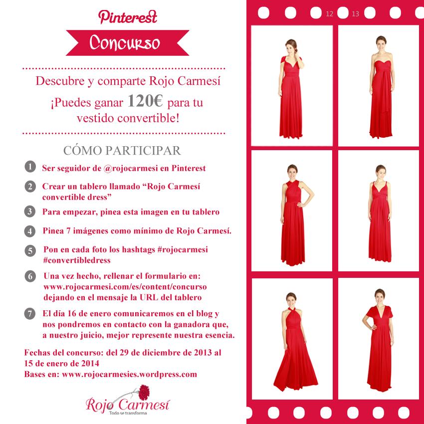 Concurso Pinterest   Rojo carmesi, Concursos y Cheque