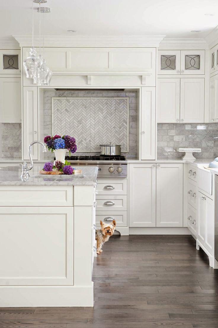 Kitchen Herringbone BacksplashGrey BacksplashWhite FlooringBacksplash White CabinetsMarble