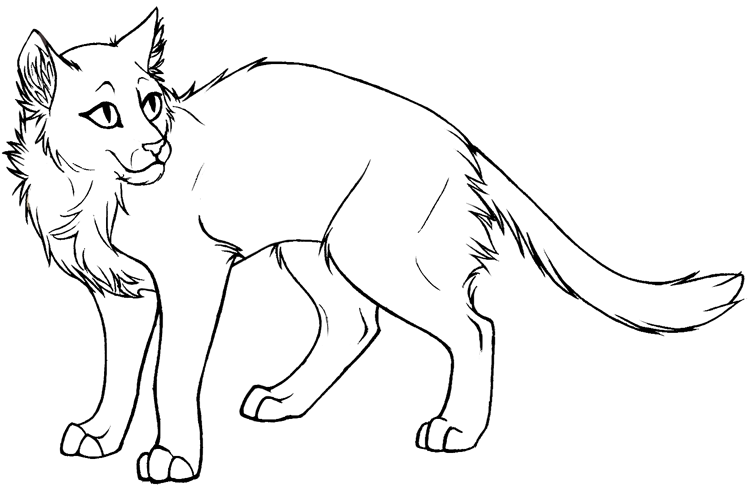 Lineart By Cleopata 002 By Free Lineart On Deviantart Cat Coloring Page Warrior Cat Drawings Warrior Cat