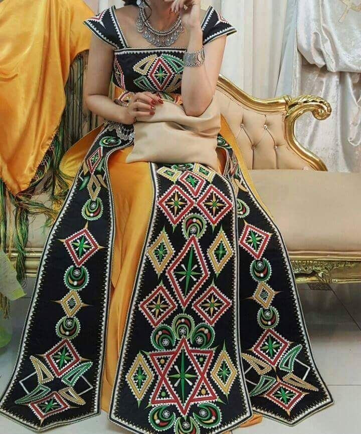Robe kabyle moderne pinterest robe and caftans for Vente robe chaoui