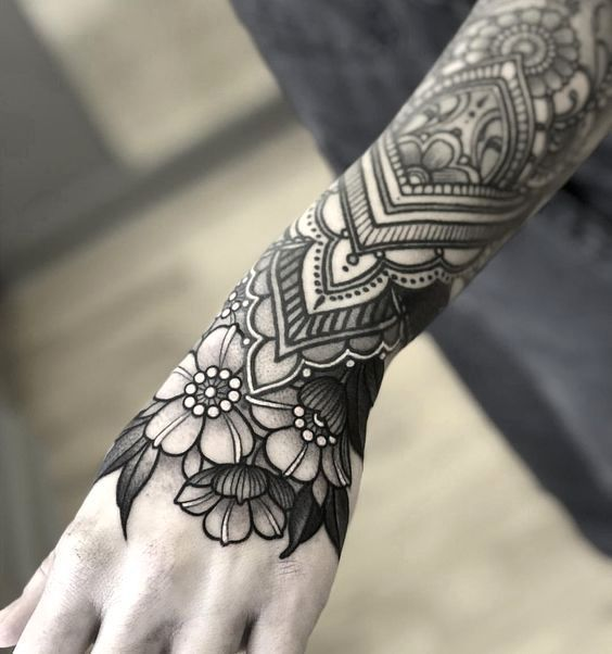 This Lace Tattoo Design Is Unique And Nicely Fits With Flowers On Arm In 2020 Chest Piece Tattoos Lace Tattoo Floral Tattoo Sleeve