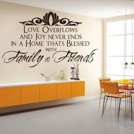 Show Off Your New Wall With One Of Our Family Room Wall Decal Quotes.  Customize