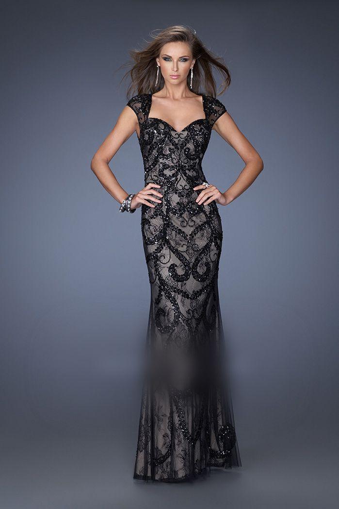 La Femme 19971 Black/Nude Evening Dress   Dresses   Pinterest