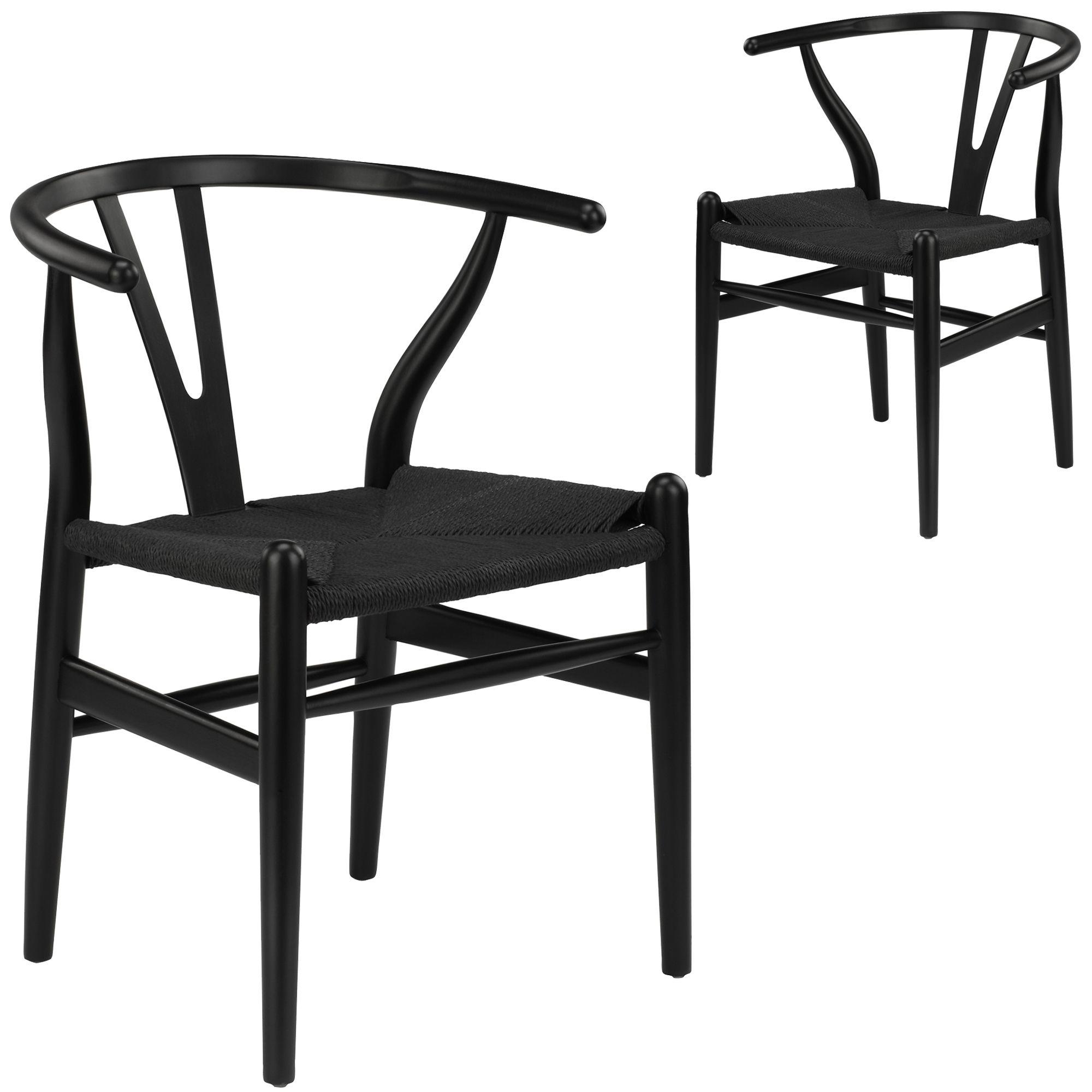 Black Hans Wegner Replica Wishbone Chairs Temple
