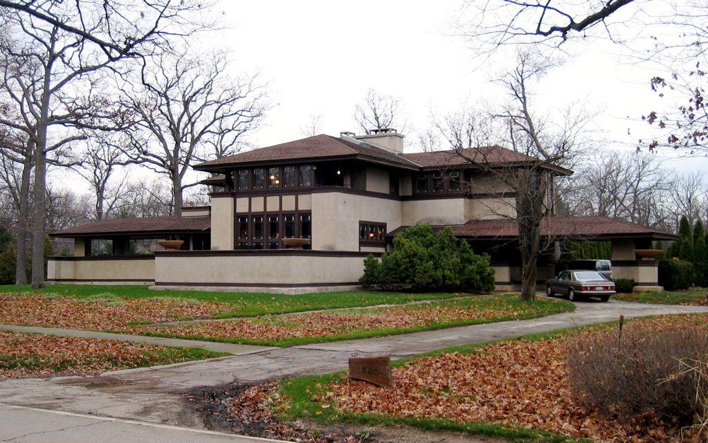 Willits House (1901) Highland Park Illinois. Architecte : Frank Lloyd  Wright. Considéré comme la premi… | Architecture art déco, Grandes maisons,  Frank lloyd wright