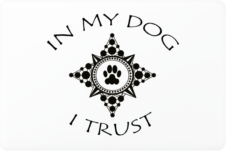 In My Dog I Trust Compass Laptop Skin