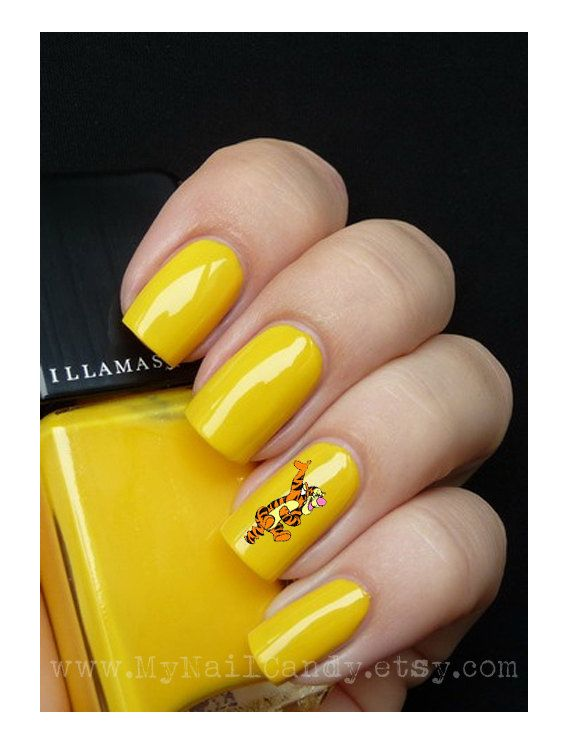 80 Tigger Nail Decals Nail Art waterSlide Decals by MyNailCandy ...