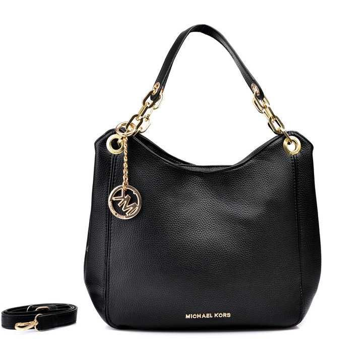 Michael Kors Outlet Shop Michael Kors Bedford Large Black Shoulder Bags - Michael  Kors Bedford Large Black Shoulder Bags Black leather Silver hardware ...