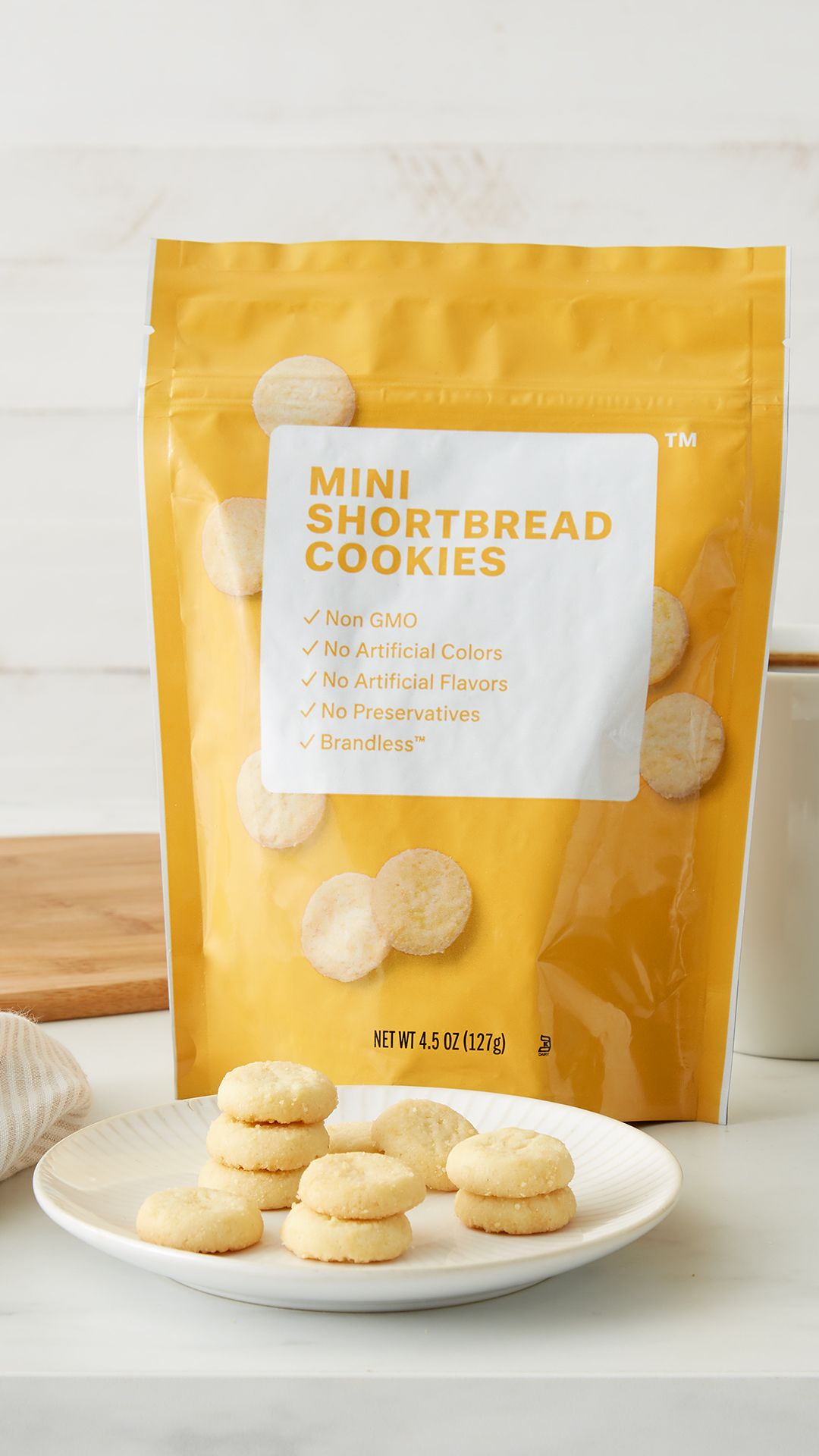 Brandless Snacks Mini Shortbread Cookies The Perfect Bite Sized