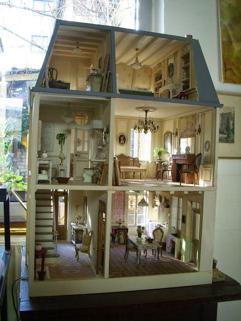 das haus im ganzen und das fertige efeu miniaturen miniatures pinterest efeu und. Black Bedroom Furniture Sets. Home Design Ideas