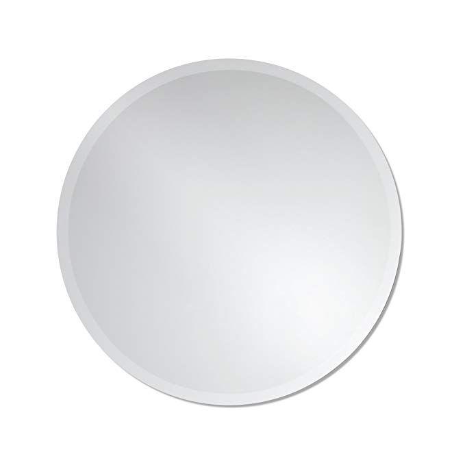 The Better Bevel Round Frameless Wall Mirror Bathroom Vanity