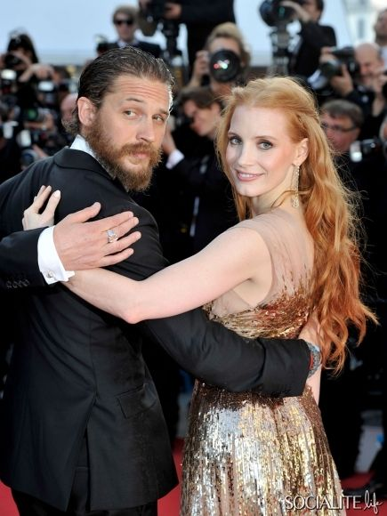 Tom Hardy at the premiere of 'Lawless' at the Cannes Film Festival