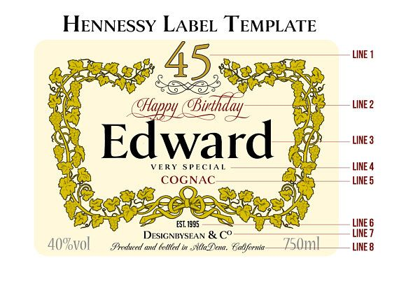 Custom Cognac Liquor Label