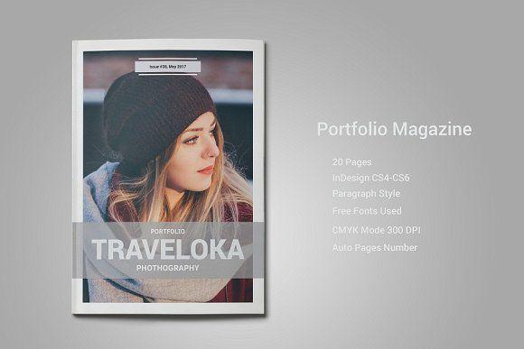 Portfolio Magazine Template @creativework247 | Magazine Layout ...