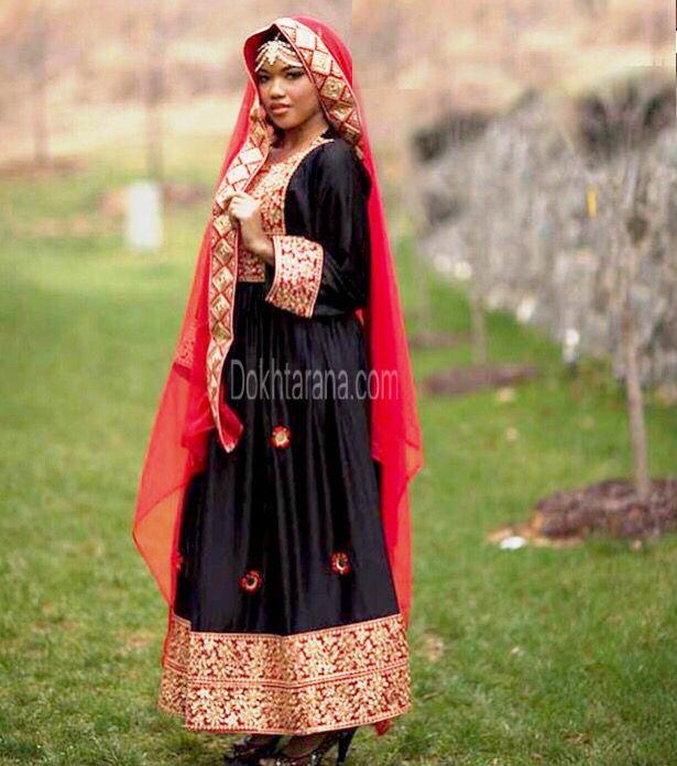#lovely #black  #red #afghani #dress