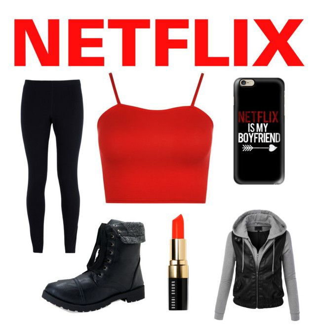 """""""Netflix inspired outfit❤️"""" by mallory-schultz on Polyvore featuring Casetify, NIKE, WearAll, LE3NO, Aéropostale and Bobbi Brown Cosmetics"""