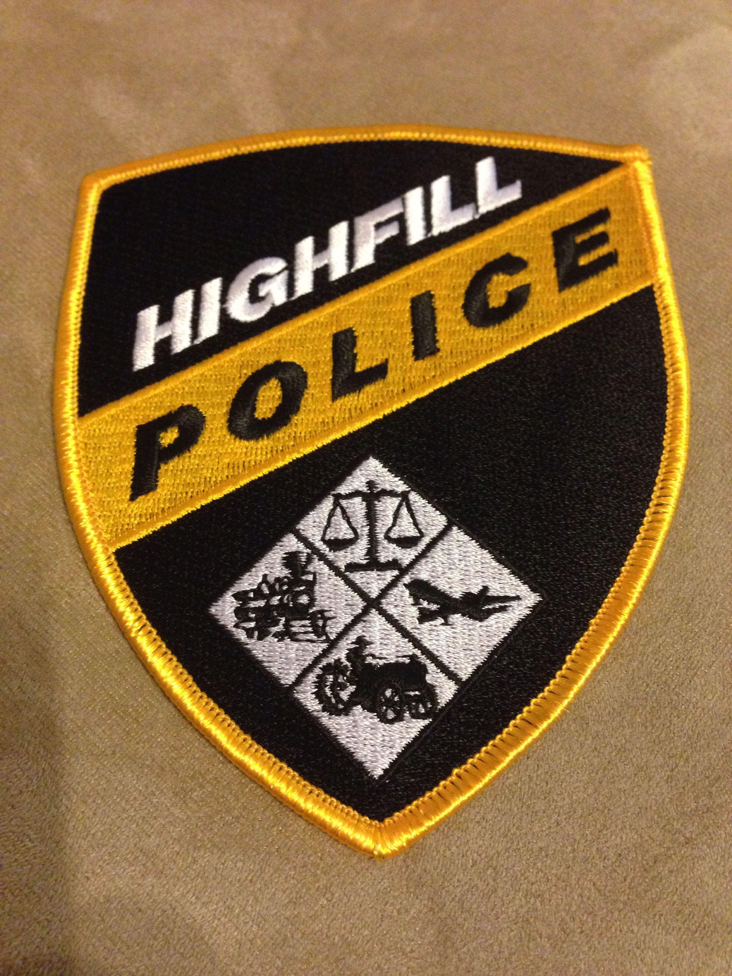 Highfill Police Department Police patches, Police