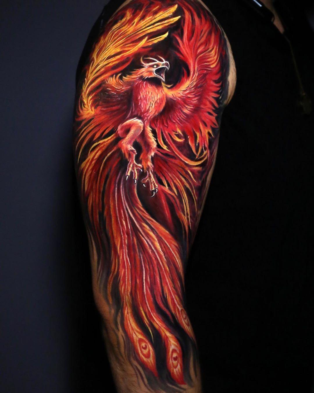 Colour realism arm tattoo realismtattoo colourtattoo