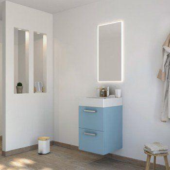 Meuble de salle de bains moins de 60, bleu, Neo line - leroy merlin meuble salle de bain neo