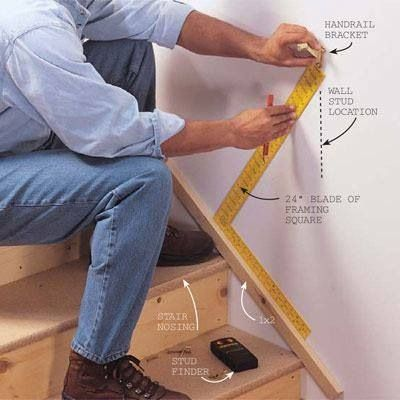 How to install a handrail (Family Handyman, part 1 of 2)