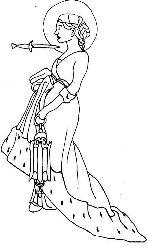 St Lucy Of Syracuse Coloring Page C 2008 C M W All Coloring Pages Are My Own Artwork And Are Free For Any Fair Not F St Lucia Day Coloring Pages St Lucia