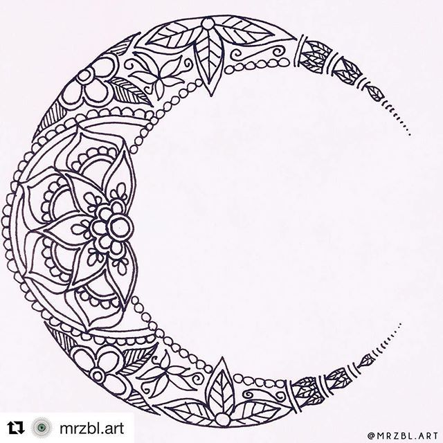 Mándala Luna Moon Tattoo Pinterest Cresent Moon Tattoo Luna