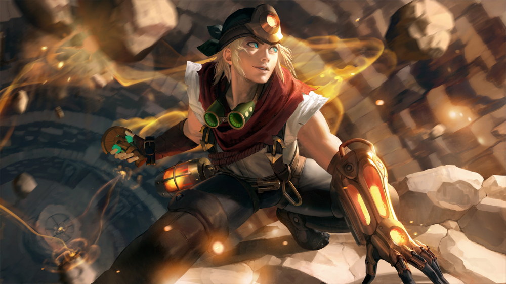 Artstation Explorer Ezreal Splash Art Sangsoo Jeong Com Imagens Personagens Do League Of Legends Producao De Arte Ilustracao