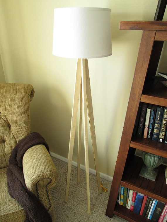 Wood Floor Lamp Tapered Leg, Floor Lamp Tapered Leg Design In Maple Wood by