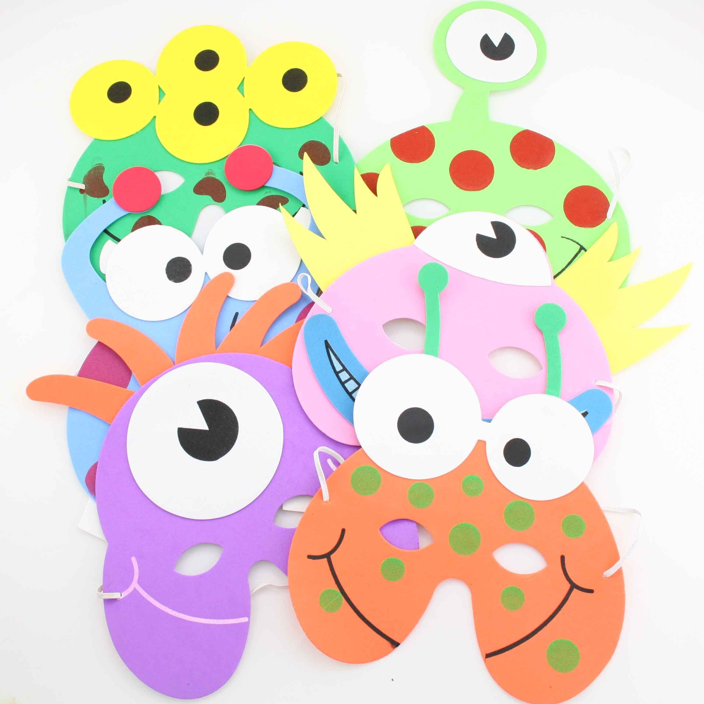 Little monsters mask could use for monster party kids for Mask craft for kids