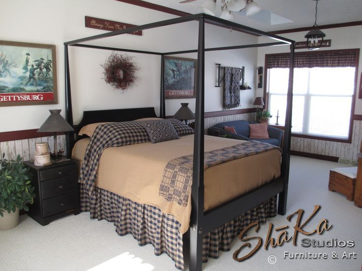 Black Pencil Post Bed | Black Four Poster Bed | Black Canopy Bed ...