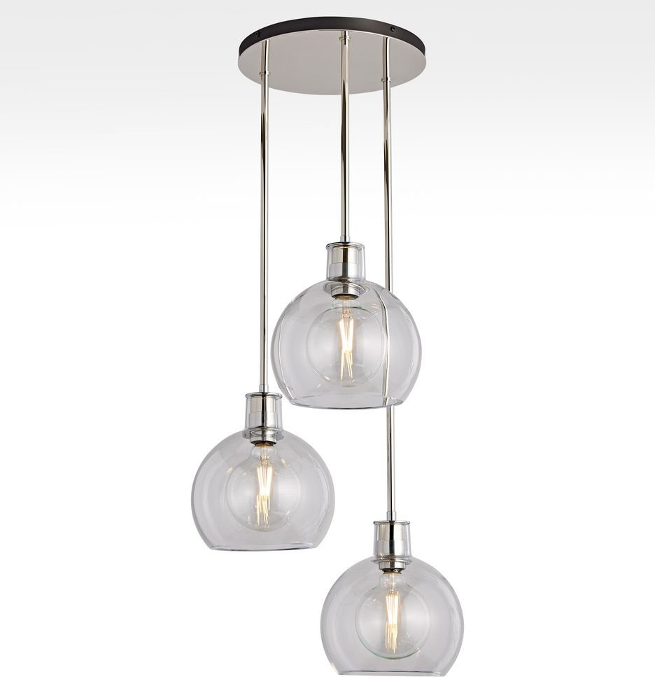 Edendale 9 Clear Glass 3 Light Pendant Rejuvenation 3 Light Pendant Pendant Lighting Glass Chandelier Shades