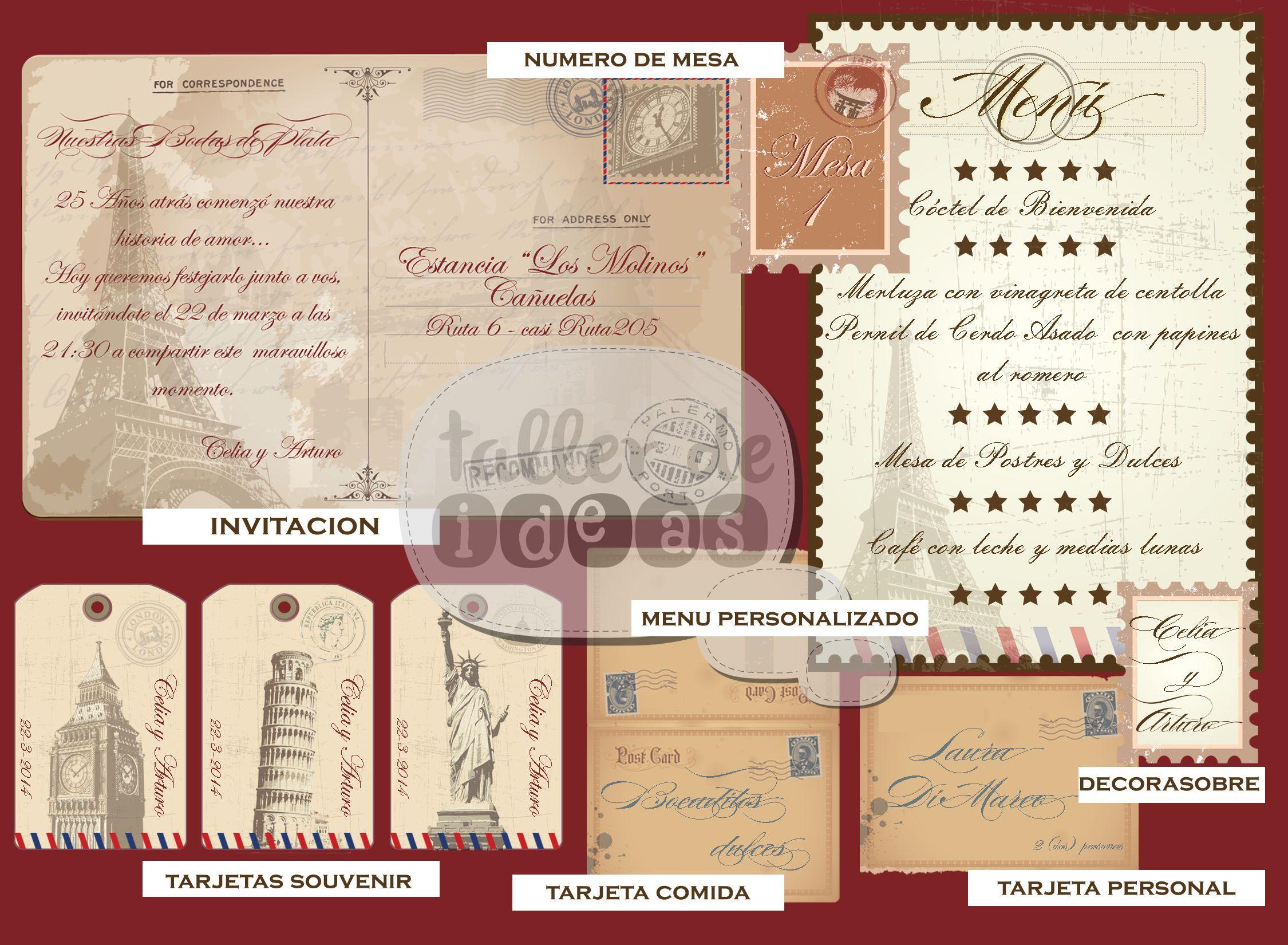 Tarjetas De Aniversario De Bodas: Aniversario Bodas De Plata : Invitación