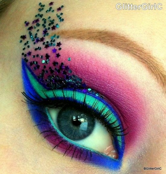 Fantasy makeup tutorial gorgeously make up facepainting - Geschminkte augen ...